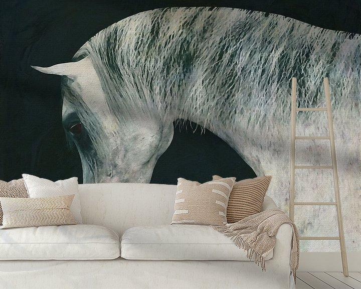 Beispiel fototapete: Pferdekopf von Jan Keteleer