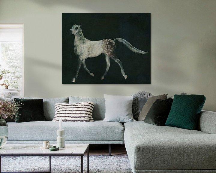 Sfeerimpressie: paard dat trots loopt van Jan Keteleer