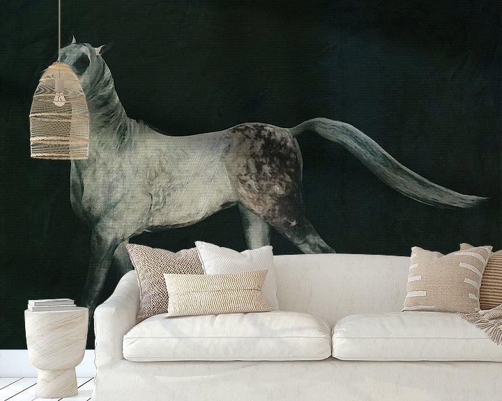Impression: un cheval qui court fièrement sur Jan Keteleer