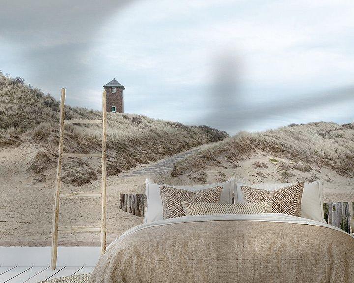 Sfeerimpressie behang: Stilte op het strand van Zoutelande van Hannie Kassenaar