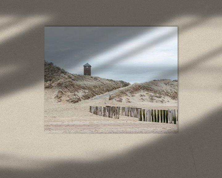 Sfeerimpressie: Stilte op het strand van Zoutelande van Hannie Kassenaar