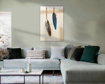 Schöne Federn, eingefasst in Bambus von 2BHAPPY4EVER.com photography & digital art