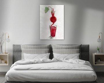 Beetroot Juice Food Illustration von Pünktchenpünktchen Kommastrich