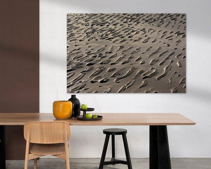 Sfeerimpressie: Rimpelingen in nat zand van Kristof Lauwers