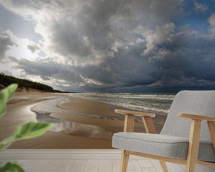 Beispiel fototapete: Einsamer Strand von Ralf Lehmann