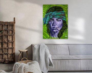 INDY - Hippie-Mädchen - Moderne Kunst von Claudia Maglio