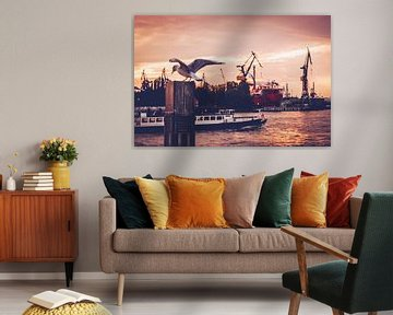 Port de Hambourg sur Alexander Voss