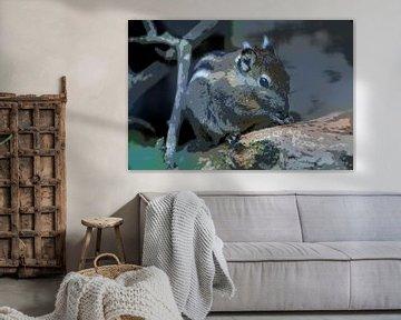 Tamiops Eichhörnchen (Cartoon) von FotoGraaG Hanneke