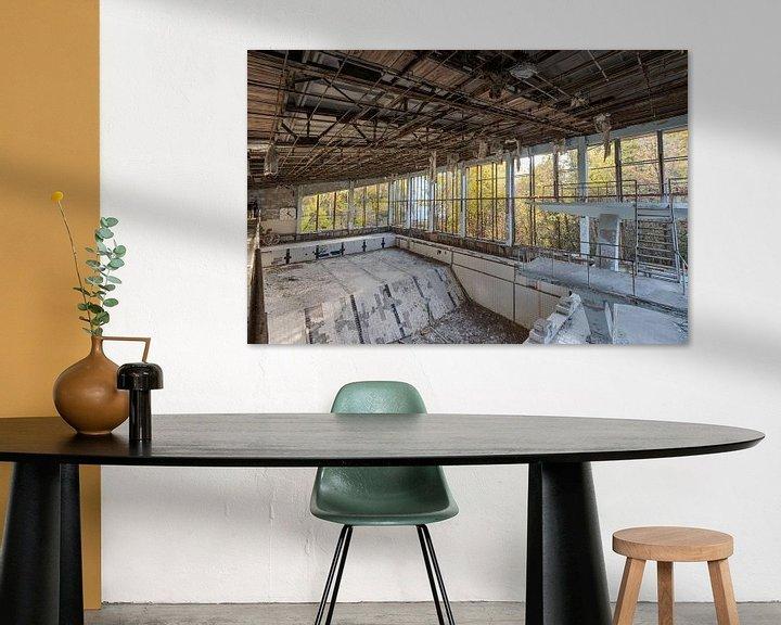 Beispiel: Springerbecken in Schwimmbad der Geisterstadt Prypjat bei Tschernobyl von Robert Ruidl