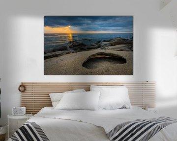 Zonsopgang boven de Middellandse Zee aan de Costa Brava van Robert Ruidl