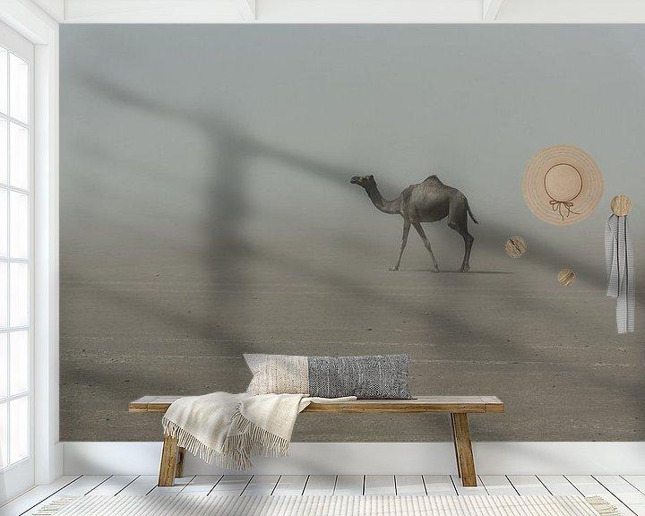 Sfeerimpressie behang: Eenzame kameel in de woestijn in Afrika | Ethiopië van Photolovers reisfotografie