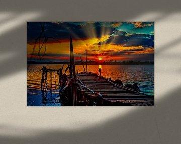 Sonnenuntergang Asselt von PhotoCord Fotografie
