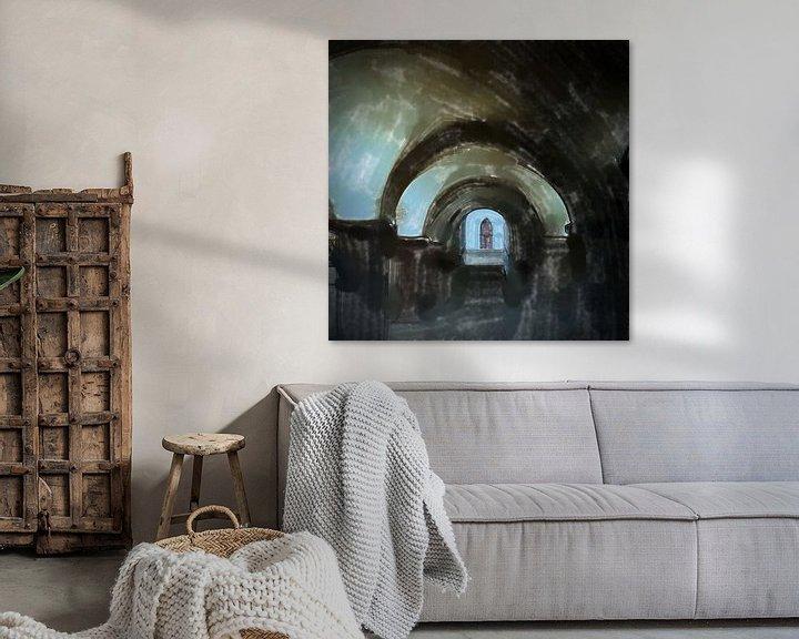 Sfeerimpressie: Ingang van de crypte van Frank Heinz