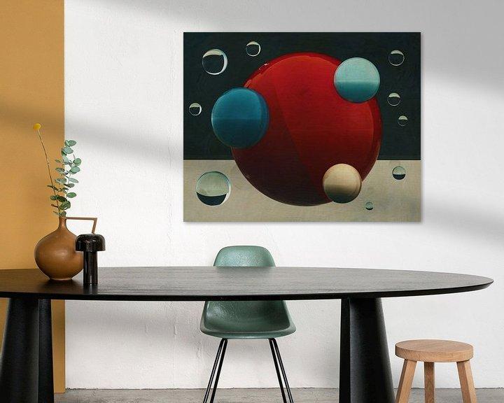Sfeerimpressie: Constructivisme schilderij nummer 14 van Jan Keteleer
