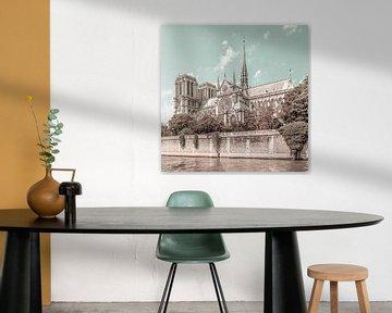 PARIJS Notre-Dame kathedraal   urban vintage stijl van Melanie Viola