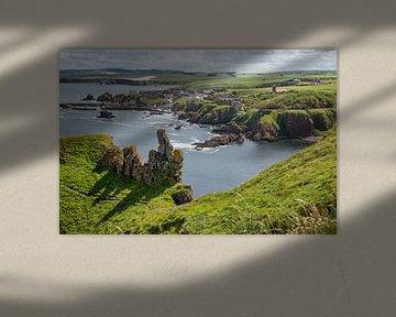 Felsformationen in St. Abbs Head in Schottland von Arja Schrijver Fotografie
