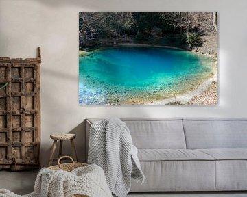 Nahaufnahme vom Blautopf See in Blaubeuren in Deutschland von creativcontent