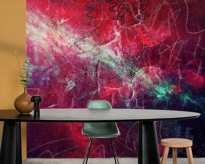 Beispiel fototapete: Rote Abstraktion II von Studio Gradus Fecit