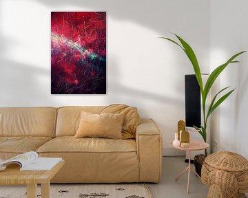 Red Abstraction II van Studio Gradus Fecit