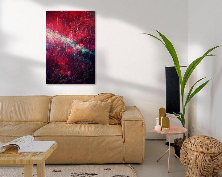 Beispiel: Rote Abstraktion II von Studio Gradus Fecit