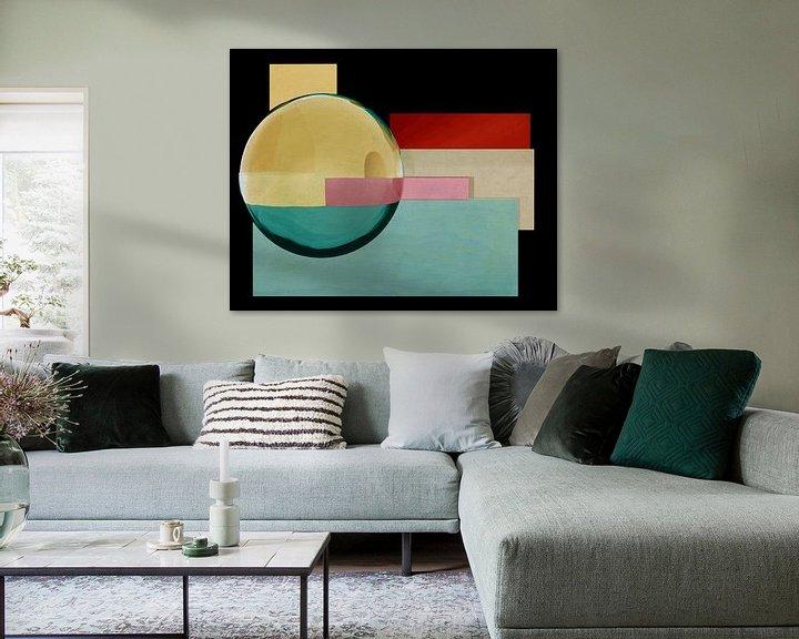 Sfeerimpressie: Constructivisme schilderij nummer 1 van Jan Keteleer