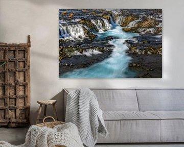 Bruarfoss in Island von Dieter Meyrl