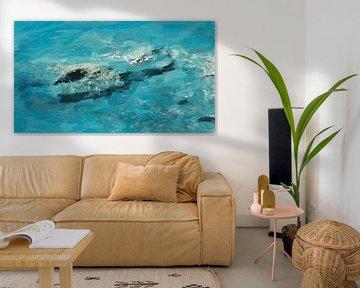 Abstract - Shadows in the Sea - Nature - Coast - Reconnaître les formes d'une mouette et d'un poisso