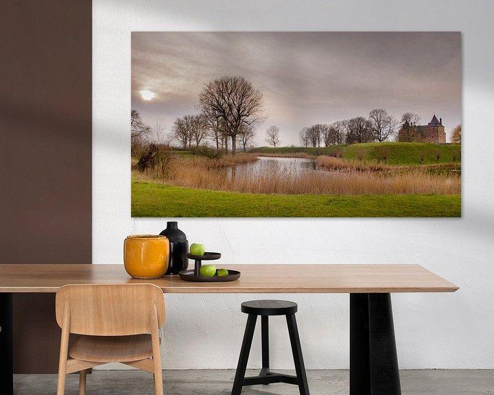 Sfeerimpressie: Het landschap van Slot Loevestein van Sean Vos