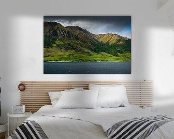 Montagnes près du lac Hawea en Nouvelle-Zélande