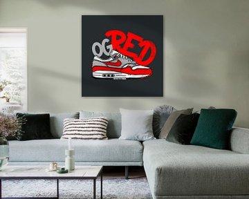 """Nike Air Max 1 """"OG Rot"""" von Pim Haring"""