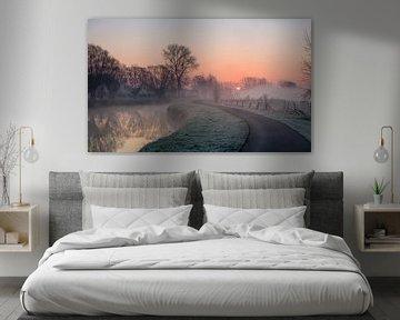 Auf dem Dender früh am Morgen von Marcel Derweduwen