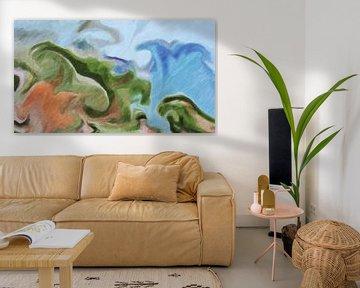 Abstrait - Le raz-de-marée - Peinture