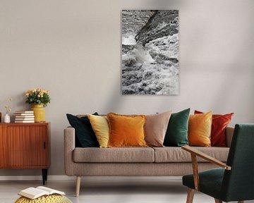 Abstracte waterval. van Christa Stroo fotografie