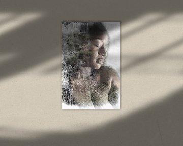 Frau mit Natur von Cor Heijnen