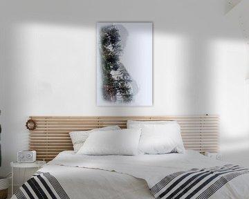 Frau mit Landschaft von Cor Heijnen