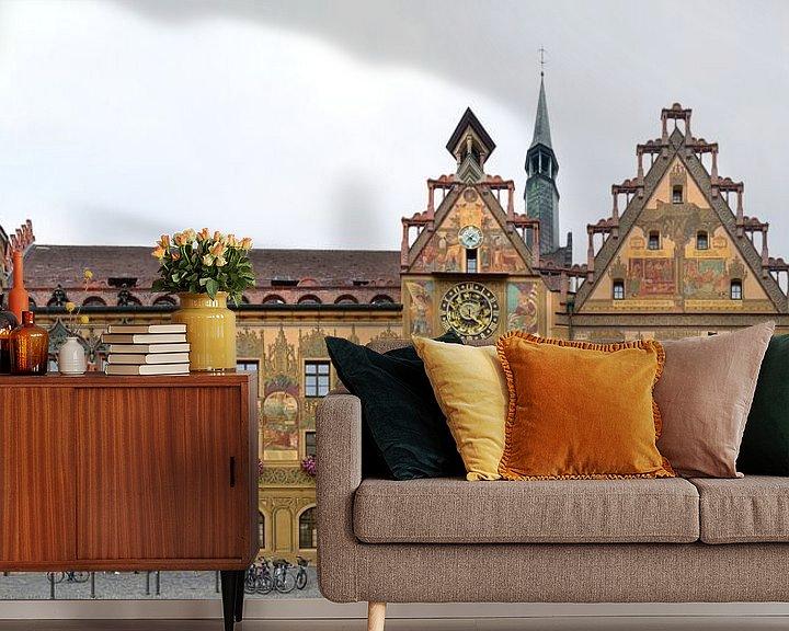 Impression: Hôtel de ville d'Ulm avec les fresques de Martin Schaffner sur Panorama Streetline