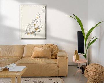 Ente und junges Gras Illustration von Numata Kashu von Studio POPPY