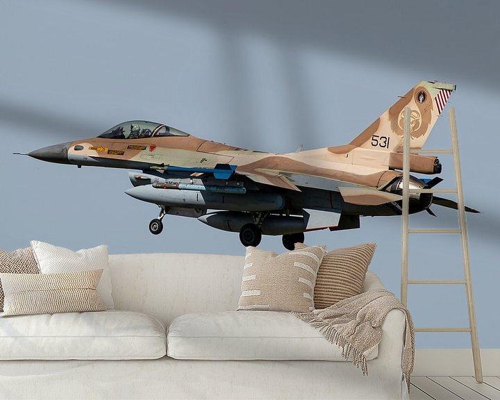 Sfeerimpressie behang: Israelische Luchtmacht F-16 Fighting Falcon van Dirk Jan de Ridder