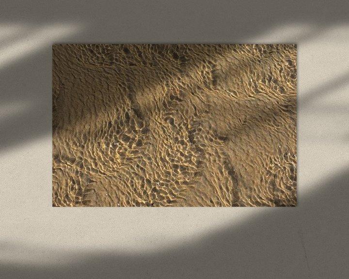 Sfeerimpressie: Patronen in zand en ondiep water van Kristof Lauwers