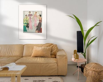 Der elegante Abend | Historischer Art Deco Mode Druck | Vintage Werbung