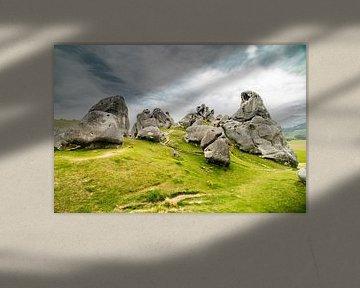 Castle Hill Rock, uniek rots landschap in Nieuw Zeeland. van Niels Rurenga