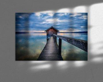 LP 71337571 Botenhuis bij zonsondergang, Ammersee, Duitsland van BeeldigBeeld Food & Lifestyle