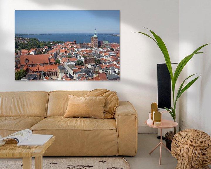 Beispiel: Stralsund : Altstadt, Katharinenkloster, Nikolaikirche, D�cher, Aussicht vom Turm der Marienkirche von Torsten Krüger