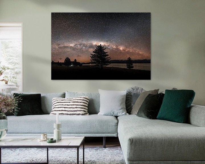 Sfeerimpressie: De sterrenhemel in Nieuw-Zeeland  met de melkweg in zicht. van Niels Rurenga