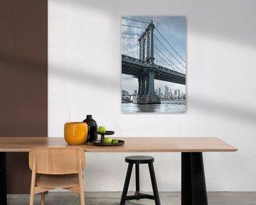 NewYorker Skyline mit der Manhattan Bridge von Caroline Drijber