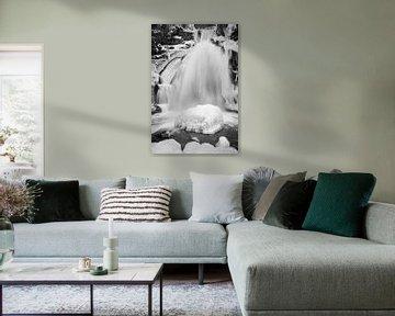 Triberg Waterval in Winter Detail van Keith Wilson Photography