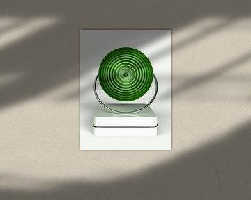 Cirkel in cirkel groen van Esther Ravesloot