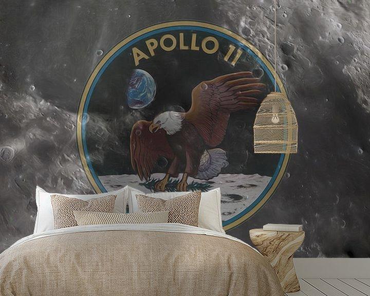 Sfeerimpressie behang: Apollo 11 van Maurice Dawson