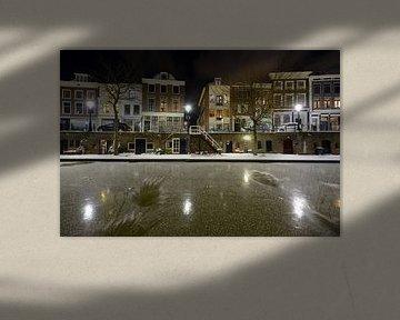 Oudegracht in Utrecht zwischen Zandbrug und Jacobibrug