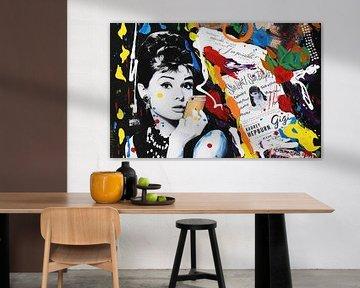 """Audrey Hepburn """"Telefon"""" von Kathleen Artist Fine Art"""
